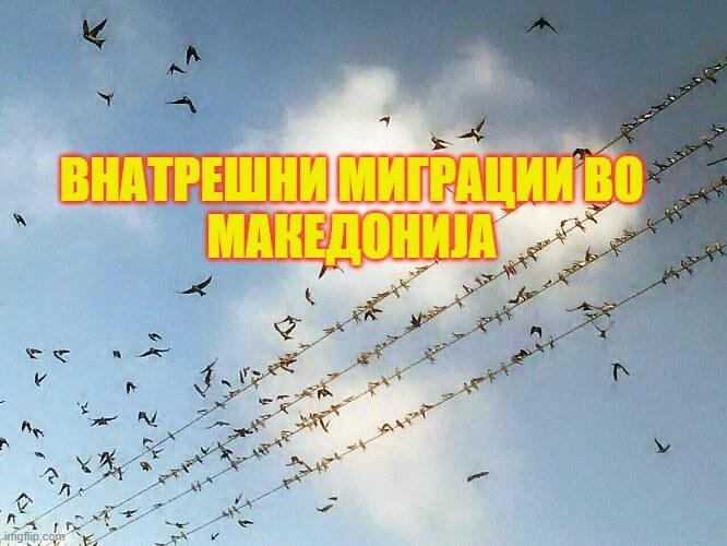 Внатрешни миграции во Македонија 2019